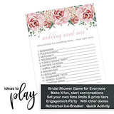 Charming Floral Bridal Shower Games (25 Pack) Word Scramble Cards – Unscramble the List – Activity for Engagement Party Supplies – Rustic Pink Wedding – Rehearsal Dinner Ideas