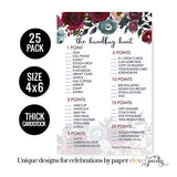 Navy Floral Bridal Shower Purse Game Pack (25 Cards) Baby Shower Hunt- Sprinkle Activity – Rustic Party Supplies - Ideas Engagement Party
