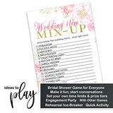 Floral Bridal Shower Games (25 Pack) Word Scramble Cards – Unscramble the List Activity - Engagement Party - Rehearsal Dinner – Wedding - Ideas for Bride Rustic Theme