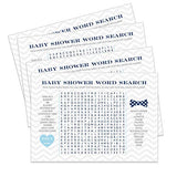 Bow Tie Baby Shower Word Search Game (25 Pack) Great for Adults, Kids and Groups