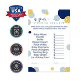 Navy and Gold Guess the Price Baby Shower Game Pack (25 Cards) Fun Activity for Boys Sprinkle - Twinkle Little Star - Royal Prince - Nautical