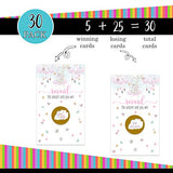 Whimsical Unicorn Scratch Off Card Games (30 Pack) Girls Baby Shower – Dreamy Party Supplies – Drawings for Prizes – Favors – Raffle Tickets – Star and Moon