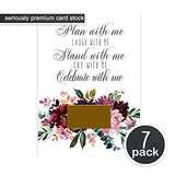 Shabby Floral Be My Bridesmaid Scratch Off Cards (7 Pack) with Maid of Honor - Stand With Me - Ideas for Asking Best Friends - Can't Without You - Bridal Proposal Invite Set and Gold Envelopes