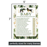 Tropical Jungle Baby Shower Game Pack - Mommy or Daddy (25 Cards) – Guess Which Parent Said It Activity – Sprinkle Royal Safari - Greenery and Gold – Neutral Boy or Girl