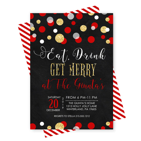 Get Merry Holiday Party Invitations