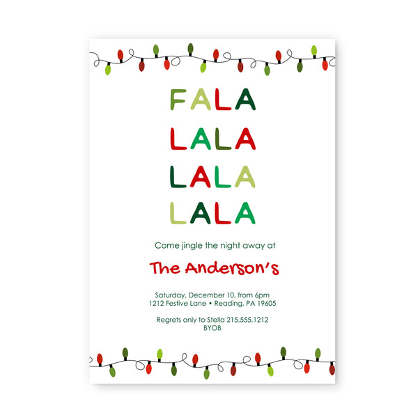 Fa-La-La Holiday Party Invitations