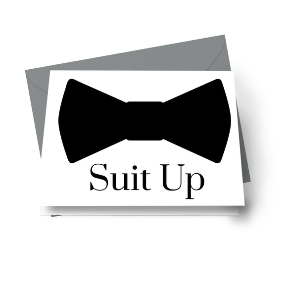 Suit Up Cards Groomsmen Cards (8 Pack) Ideas for Asking My Best Man - Ushers - Father of Bride - Wingman - Ring Bearer - Wedding Attendandts Proposal Invites Set with Grey Envelopes