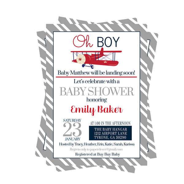 Dapper Baby Shower Invitations with Bow Tie