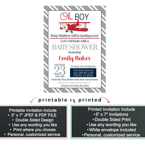 Bold Adventure Baby Shower Invitation