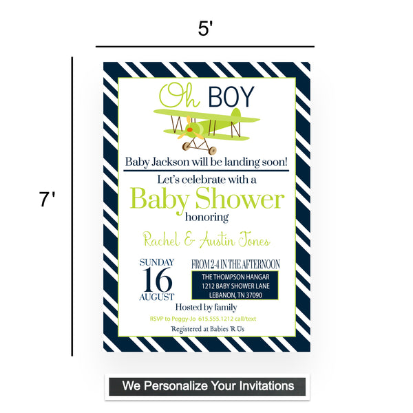 Baseball Baby Shower Invitations and Envelopes - Pack of 15