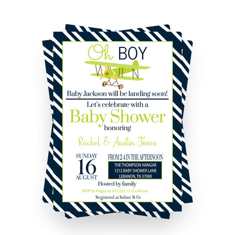 Mod Floral Baby Shower Book Insert Card