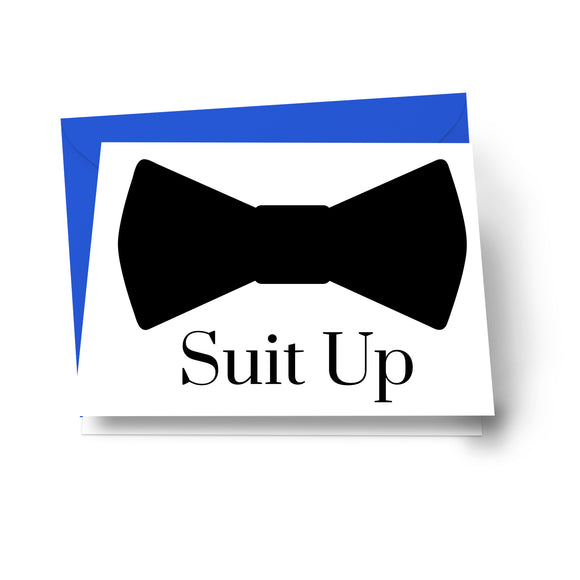 Suit Up Cards Groomsmen Cards (8 Pack) Asking Ideas for My Best Man - Ushers - Father of Bride - Wingman - Ring Bearer - Wedding Attendandts Proposal Invites Set with Royal Blue Envelopes