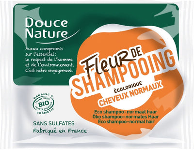 Solid Shampoo for Normal hair with Shea Butter and Wheat Proteins - Certified Organic (85g)