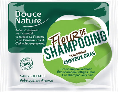 Solid Shampoo for Oily hair with Shea Butter and Green Clay - Certified Organic (85g)