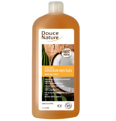 Sweet Island Shower gel (Coconut) - Certified Organic (FAMILY SIZE 1L)