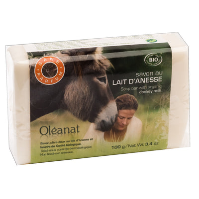 Unscented Donkey Milk Soap – Certified Organic (100g)