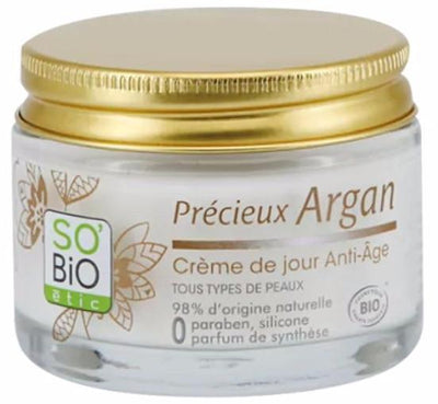 Anti-Aging Day Cream with Argan Oil and Hyaluronic Acid - Certified Organic (50ml)