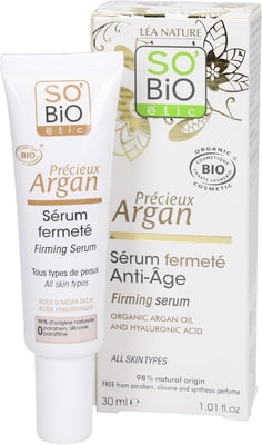 Firming Serum with Argan Oil and Hyaluronic Acid - Certified Organic (30ml)
