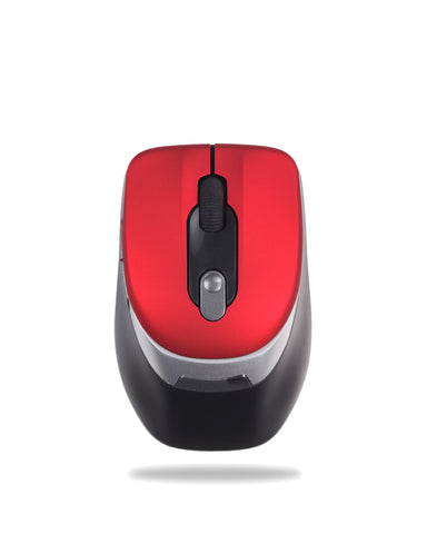Kinobo Red Wireless USB Mouse for Windows Laptop / PC