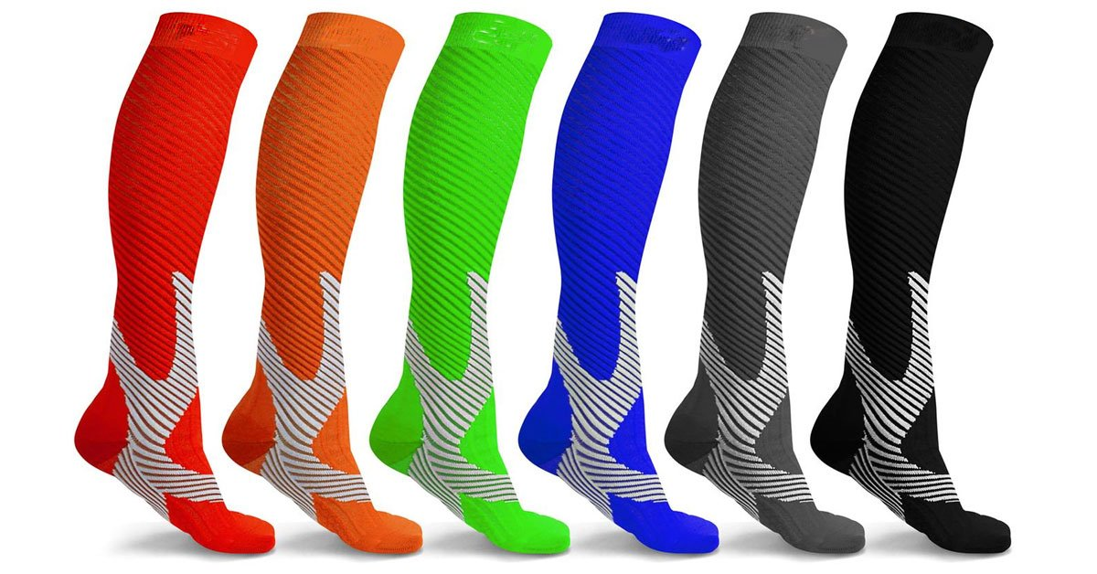 Recovery and Performance Compression Socks (6 Pairs)