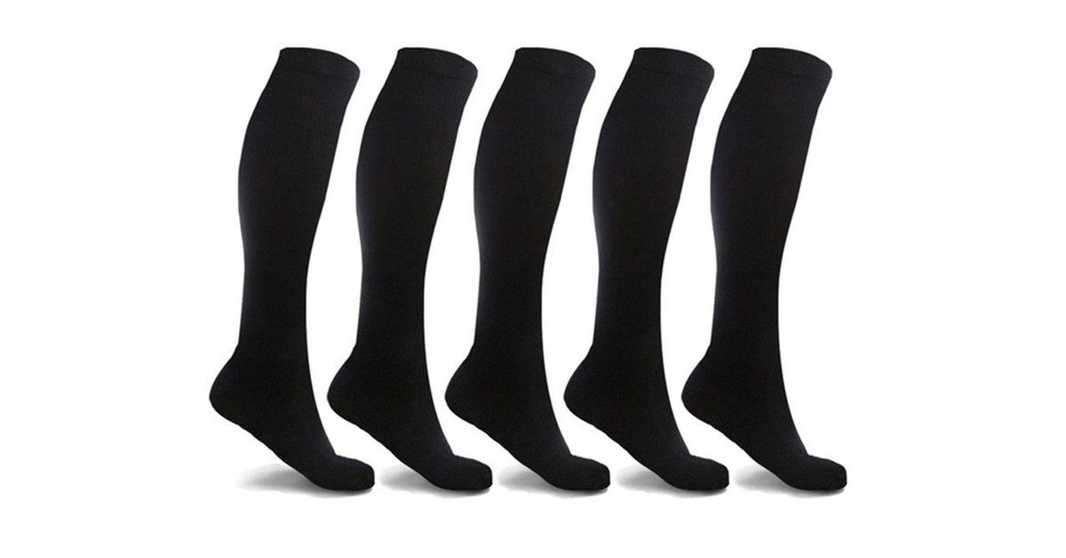 Anti-Fatigue Compression Socks (5-Pack)