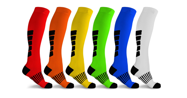 Mid-Calf Compression Socks for Men and Women (6-Pack)