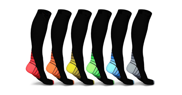 Unisex Sports Compression Socks 5 Pack + 1 Free Socks