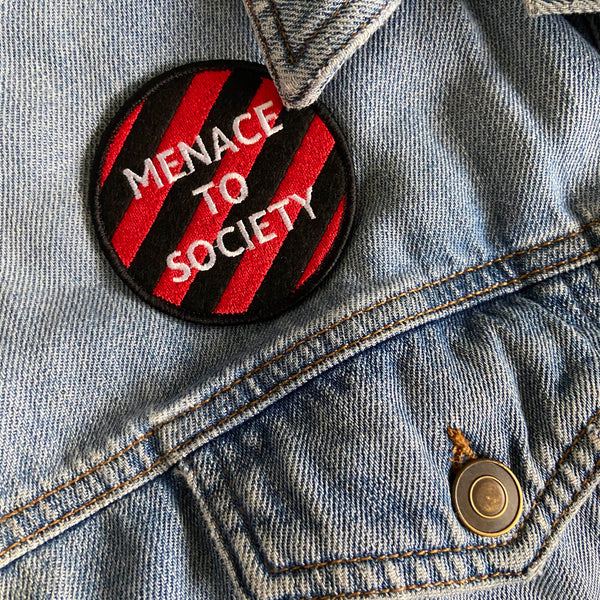 Menace to Society Iron On Patch