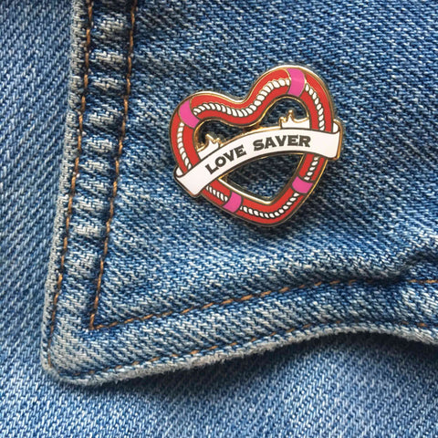 Love Saver Enamel Pin