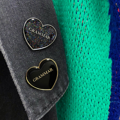 Love Grammar Enamel Pin