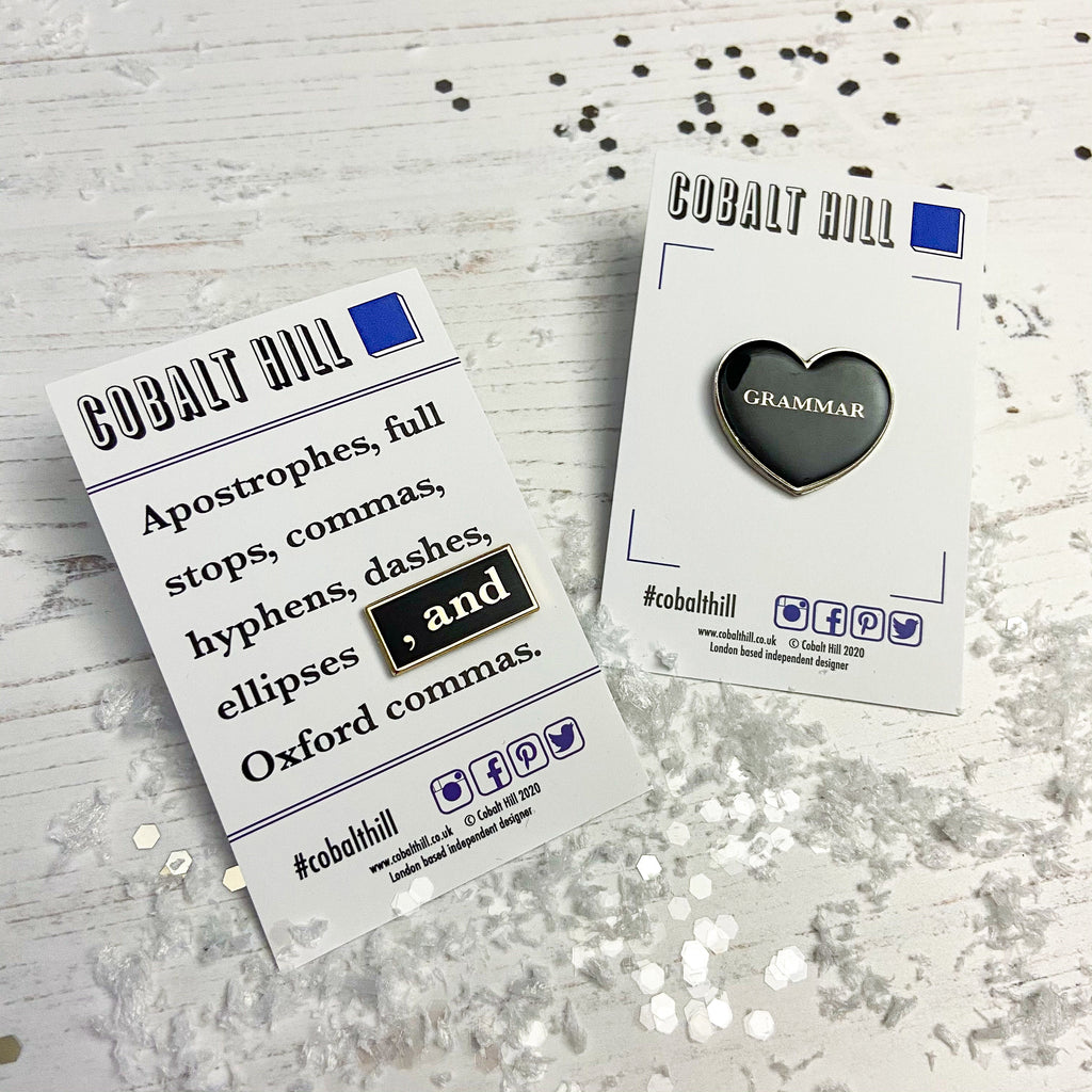 Grammar Geek Enamel Pin Set