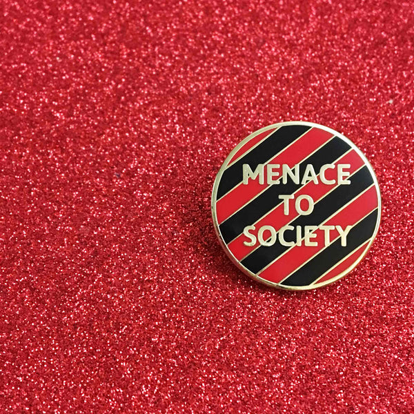 Menace to Society Enamel Pin