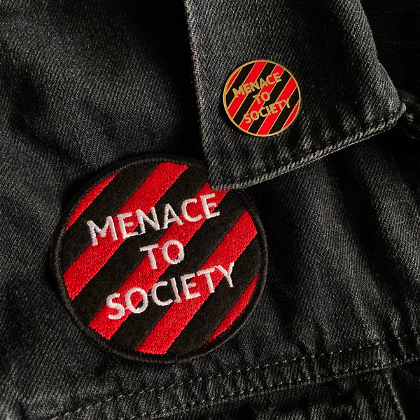 Menace to Society Pin and Patch Set