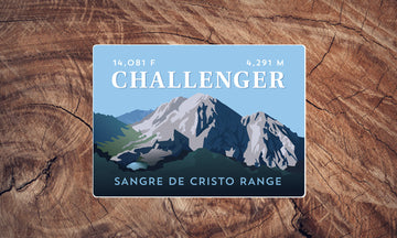 Challenger Point Colorado 14er Sticker