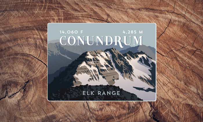 Conundrum Peak Colorado 14er Sticker