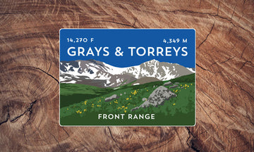 Grays & Torreys Colorado 14er Sticker