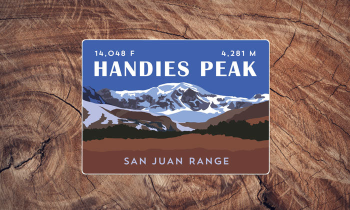 Handies Peak Colorado 14er Sticker