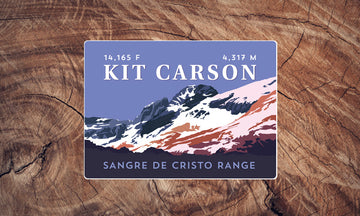 Kit Carson Peak Colorado 14er Sticker