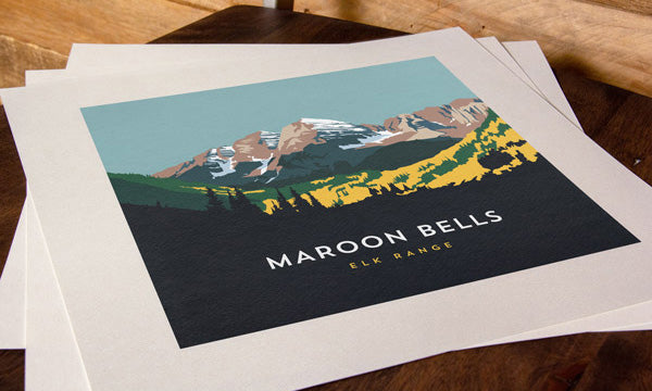 Maroon Bells Colorado 14er Print
