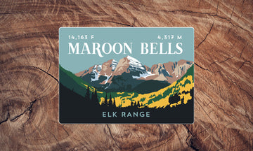 Maroon Bells Colorado 14er Sticker