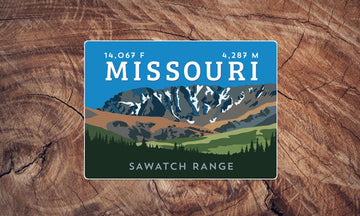 Missouri Mountain Colorado 14er Sticker