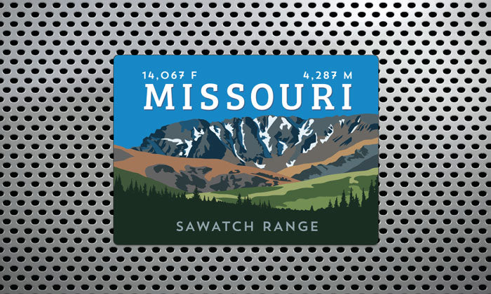 Missouri Mountain Colorado 14er Magnet