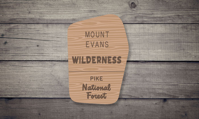 Mount Evans Wilderness Sticker