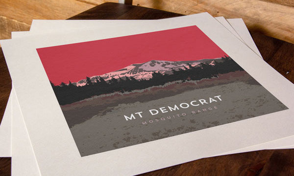 Mount Democrat Colorado 14er Print