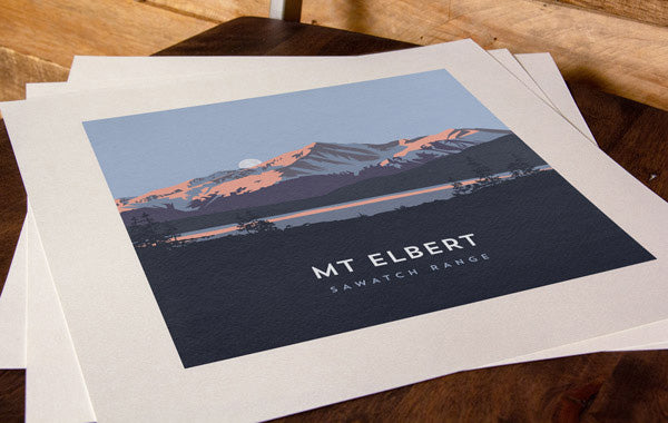 Mount Elbert Colorado 14er Print