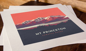 Mount Princeton Colorado 14er Print