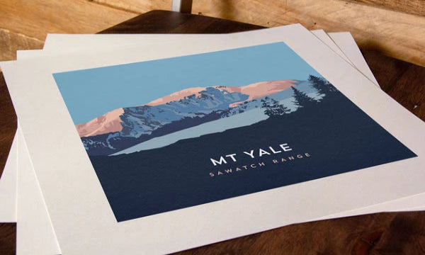 Mount Yale Colorado 14er Print