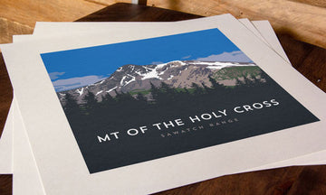 Mount of the Holy Cross Colorado 14er Print