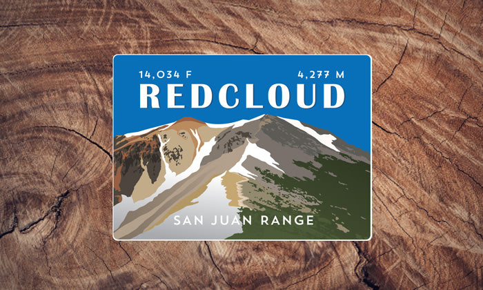 Redcloud Peak Colorado 14er Sticker