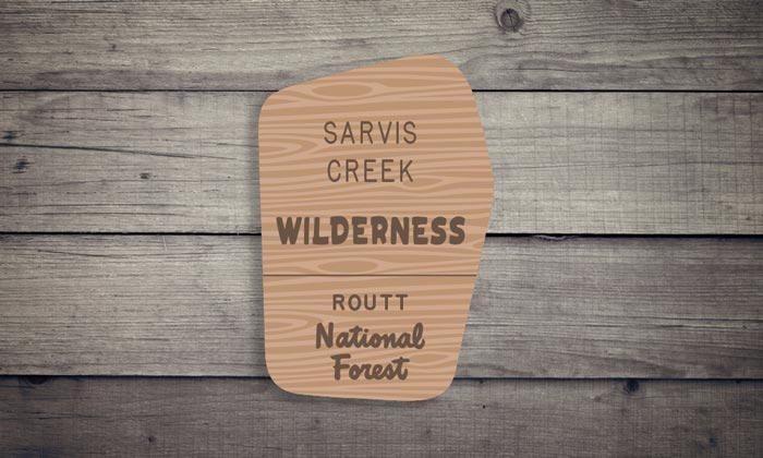 Sarvis Creek Wilderness Sticker
